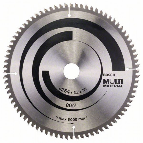 Диск пильный Bosch Multi Material 254х30 мм Z80, металл