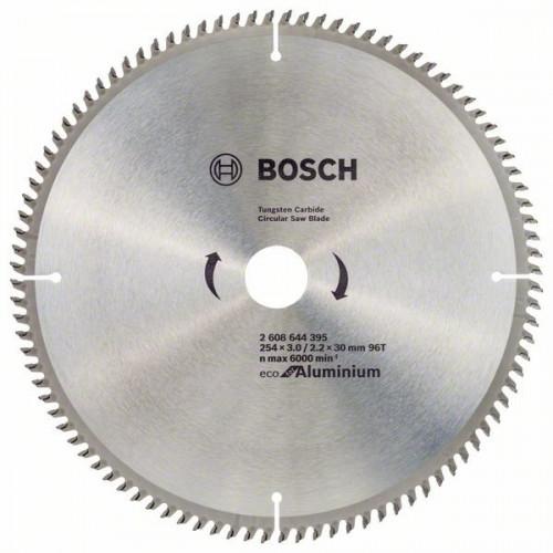 Диск пильный Bosch Eco for Aluminium 254х30мм Z96, алюминий