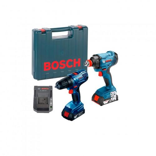 Набор аккумуляторного инструмента Bosch GDX 180-LI + GSR 180-LI Professional (06019G5222)