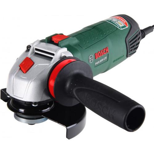 Болгарка Bosch PWS 850-125 сетевая, 0.85 кВт, 125 мм (06033A2720)