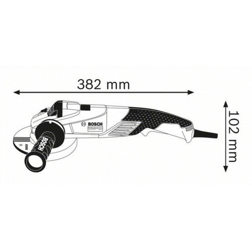 Болгарка Bosch GWS 18-125 L Professional сетевая, 1.8 кВт, 125 мм (06017A3000)