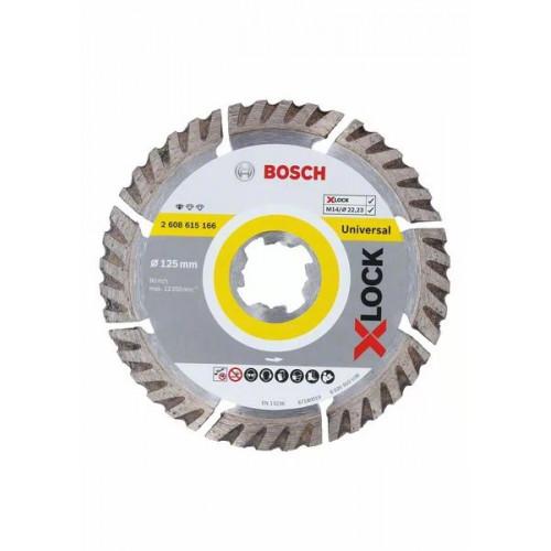 Диск алмазный Bosch Standard for Universal 125x22,23 X-Lock (2608615166)