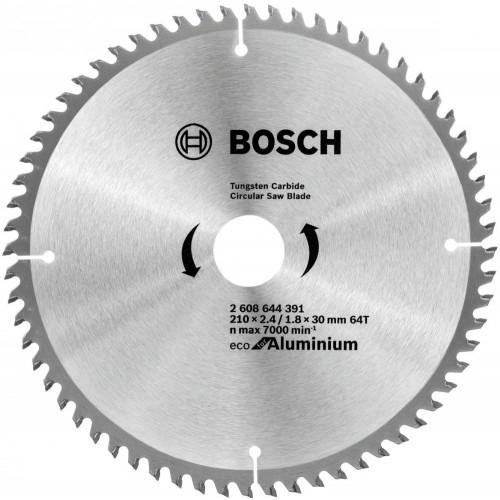 Диск пильный Bosch Eco for Aluminium 210х30мм Z64, алюминий