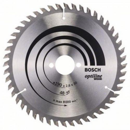 Диск пильный Bosch Optiline Wood 190x30 мм Z48, дерево