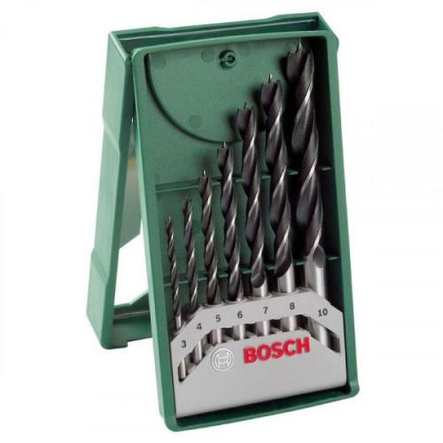 Набор сверл по дереву Bosch (3-10мм, 7 шт)