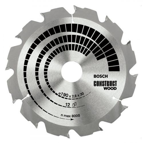 Диск пильный Bosch Construct Wood 190х30 Z12, дерево