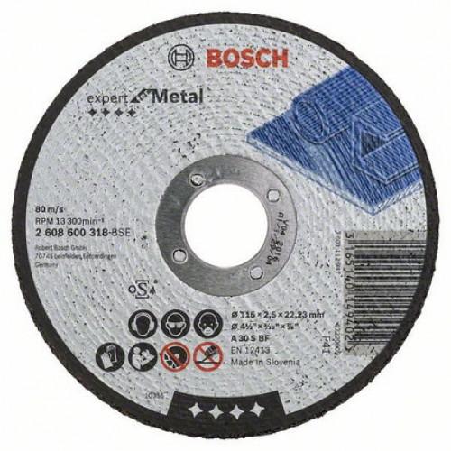 Диск отрезной по металлу 115х22,2 мм Bosch