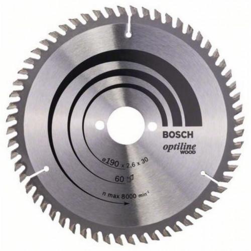 Диск пильный Bosch Optiline Wood 190x30 мм Z60, дерево