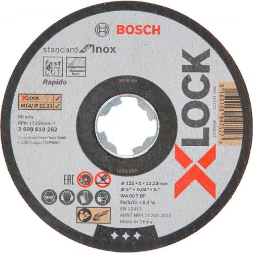 Круг отрезной Bosch X-LOCK MultiMaterial, 125x1.6x22,23 мм (2608619270)