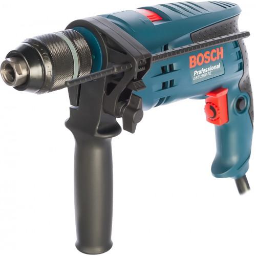 Ударная дрель Bosch GSB 1600 RE Professional сетевая, БЗП, 0.7 кВт (0601218121)