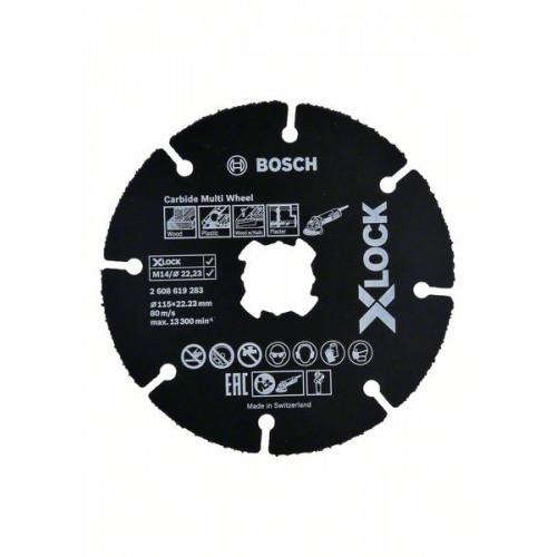 Круг отрезной Bosch Carbide Multi Wheel 125 мм X-Lock универсальный (2608619284)