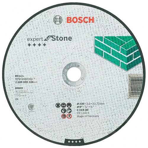 Круг отрезной Bosch Expert for Stone прямой 230×3x22,23 мм (2608600326)
