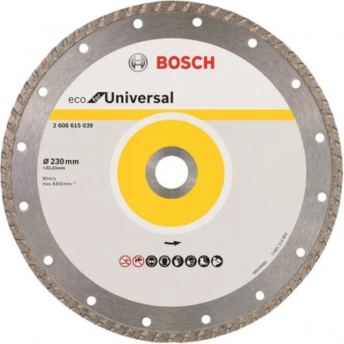 Диск алмазный Bosch ECO Universal Turbo 115x22,23 (2608615036)