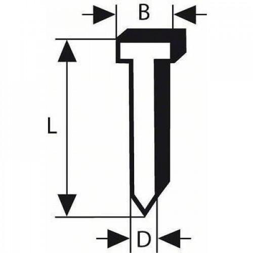Гвоздь-штифт BOSCH Т49 16*2,8мм (1тис.шт)