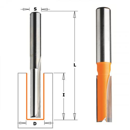 Фреза CMT пазовая прямая 12.0x50.8мм хв-12мм