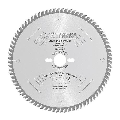 Диск пильный CMT 250х30 мм Z80, ламинат