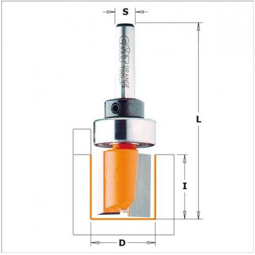 Фреза CMT прямая с верхним подшипником Ø16.0х20.0мм хв-8мм