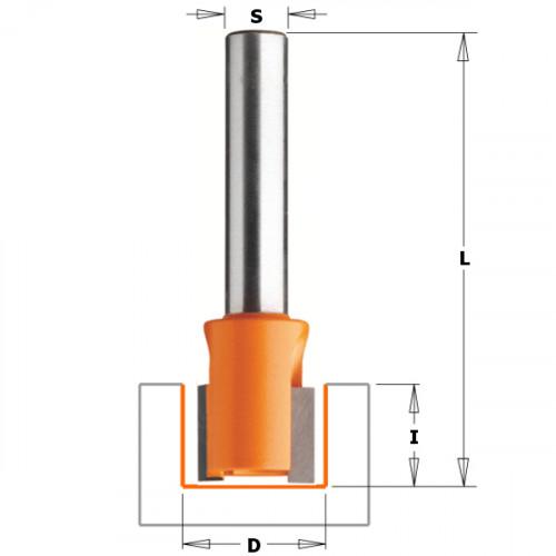 Фреза CMT пазовая прямая 16.0х12.0 мм хв-8мм