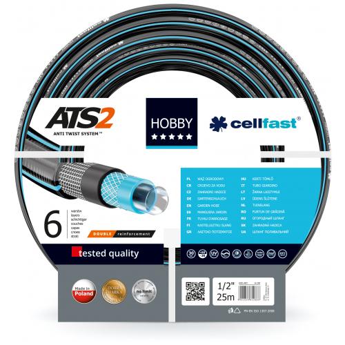 """Шланг для полива Cellfast Hobby ATS 16-200 25 м 1/2"""" серый"""