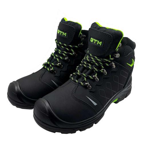 Кожаные рабочие ботинки с металлическим носком GTM SM-095 Active Евростандарт