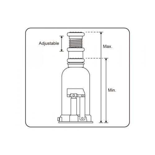 Домкрат бутылочный King Tony 9TY112-20A-B гидравлический телескопический