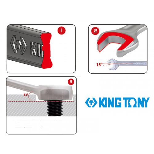 Набор комбинированных ключей King Tony 34-50 мм, 6 шт в чехле