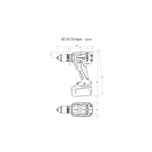 Аккумуляторный шуруповерт Metabo BS 18 LTX Impuls Каркас (602191890)