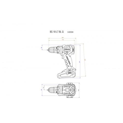 Аккумуляторный шуруповерт Metabo BS 18 LT BL Q (602334550)