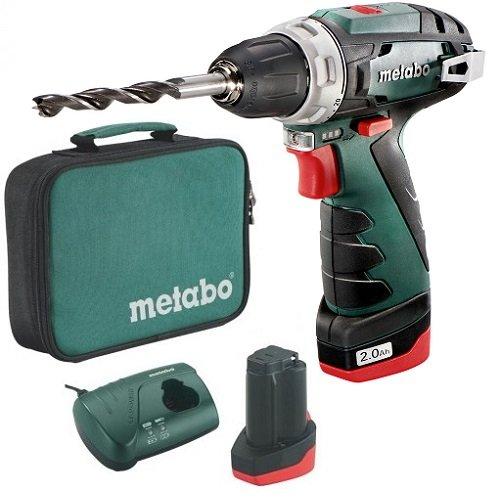 Аккумуляторный шуруповерт Metabo PowerMaxx BS + сумка (600079550)