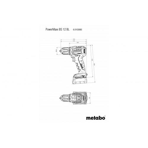 Аккумуляторный шуруповерт Metabo PowerMaxx BS 12 BL бесщёточный (601038500)