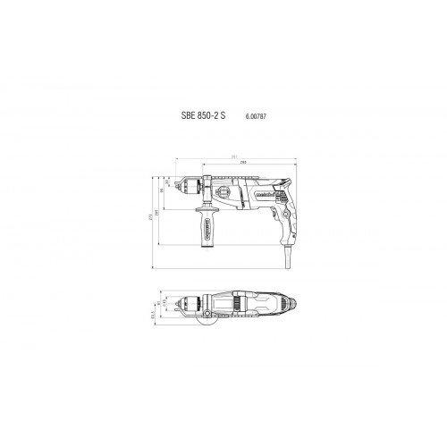 Ударная дрель Metabo SBE 850-2 S (600787500)