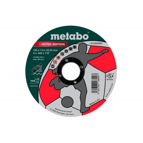 Круг отрезной Metabo Limited Edition Soccer 125*1.0*22 нержавеющая сталь (616259000)