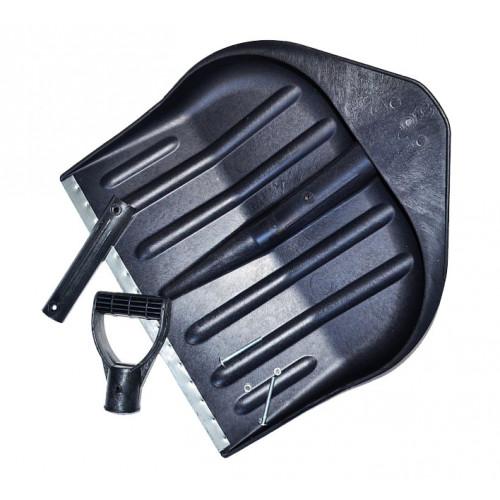 Лопата для снега, пластик, черная, 440x460 мм