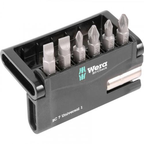 Набор бит Wera Bit-Check 7 Universal 1 6шт