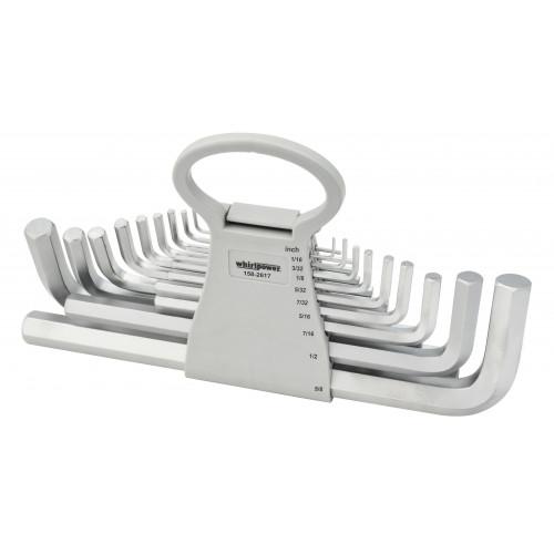 Набор ключей-шестигранников HEX Whirlpower 158-2617 дюймовые, 17 ед.