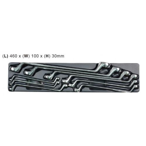 Набор накидных ключей Whirlpower 6-27 мм, 9 шт, ложемент
