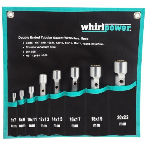 Набор трубчатых ключей Whirlpower 6-22 мм, 8 шт в чехле