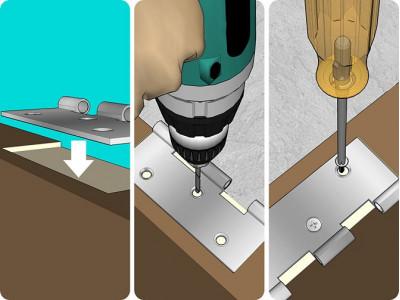 Как с помощью шуруповерта прикрепить дверные петли своими руками