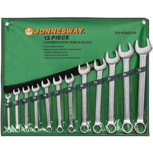 Набор комбинированных ключей Jonnesway 10-32 мм, 12 шт в чехле