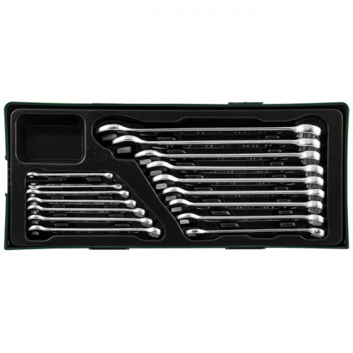 Набор комбинированных ключей Jonnesway 6-24 мм, 16 шт, ложмент