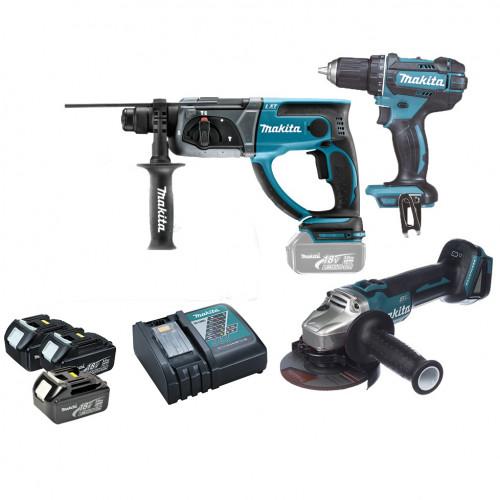 Набор аккумуляторных инструментов Makita DLXMUA504 (DLXMUA504)