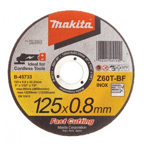 Круг отрезной Makita 125*0.8*22 нержавеющая сталь (B-45733)