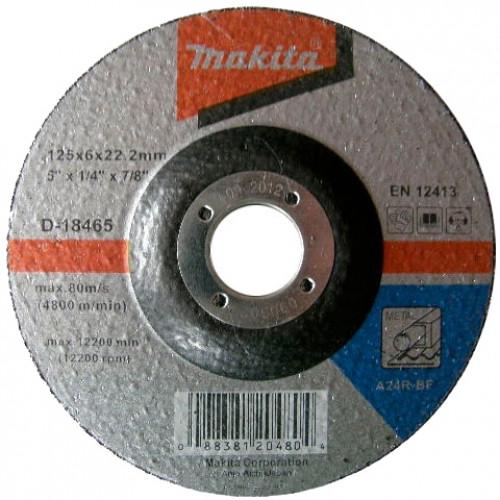 Круг зачистной Makita 125x6x22 сталь (D-18465)