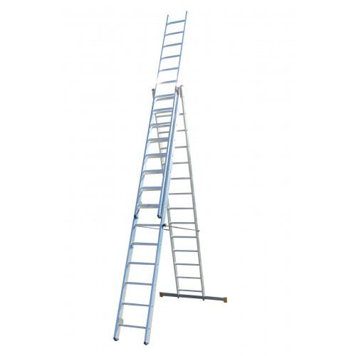 Лестница ELKOP VHR Profi 3x14 алюминиевая, 3 секции, 14 ступеней