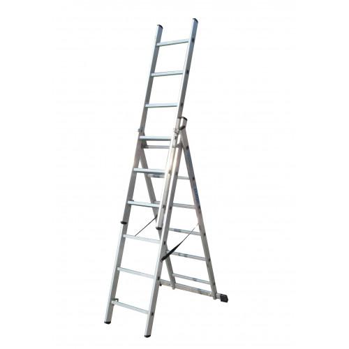Лестница ELKOP VHR Trend 3x6 алюминиевая, 3 секции, 6 ступеней