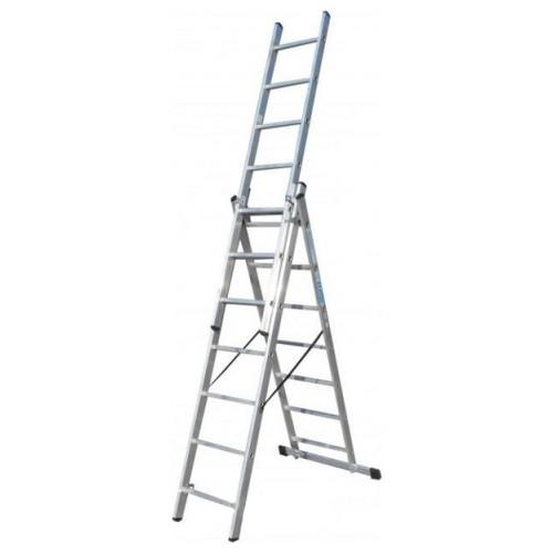 Лестница ELKOP VHR Trend 3x7 алюминиевая, 3 секции, 7 ступеней