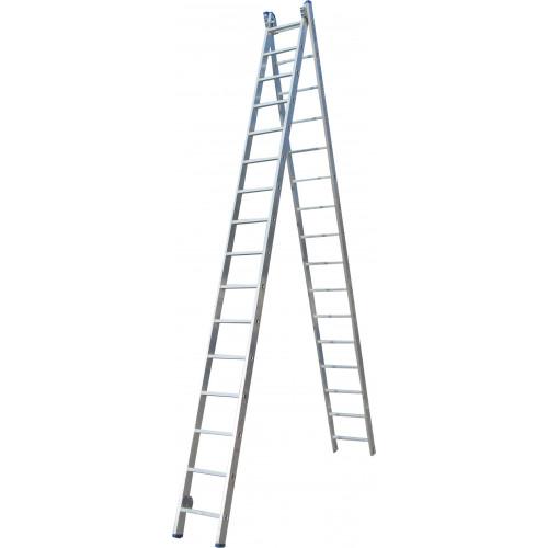 Лестница ELKOP VHR Profi 2x16 алюминиевая, 2 секции, 16 ступеней