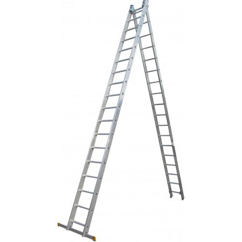 Лестница ELKOP VHR Profi 2x18 алюминиевая, 2 секции, 18 ступеней