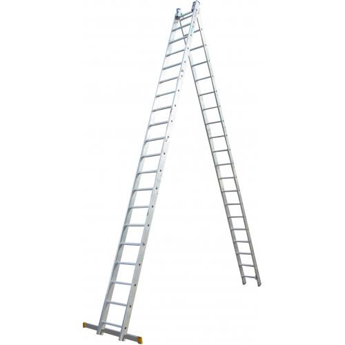 Лестница ELKOP VHR Profi 2x20 алюминиевая, 2 секции, 20 ступеней