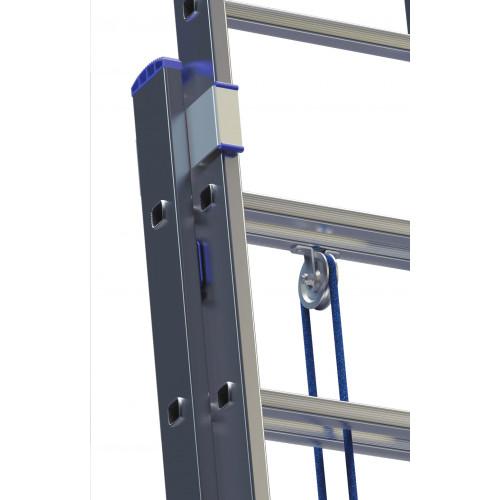 Лестница ELKOP VHR L 2x22 алюминиевая, на канатной тяге